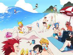 beach time for organization XIII !   Kingdom Hearts