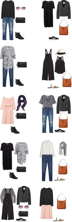 What to Wear in Italy and France Outfit Options 11-20 #travellight #packinglight…