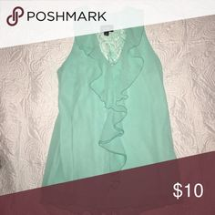 Dressier blouse Perfect paired with a blazer - great for interviews, meetings - sized a L but it is a junior's size, fits more like a M/L by by Tops Blouses