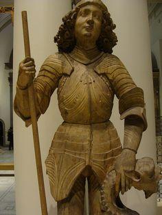 ca. 1480-1490 - 'St. George', probably Ulm, V&A, London, England