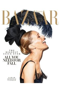 The September Harper's Bazaar had some people seeing double. In the edition sent to subscribers, Sarah Jessica Parker, shot in profile, wears an enormous, $1,200 feathered headdress by Ellen Christine Couture.
