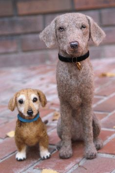 These felted dogs have great attitude
