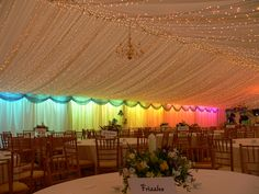 Wedding Theme Abbas Marquees - OMG I need the rainbow wall and twinkly ceiling! - Abbas Marquee's provides the Southwest with stunning temporary structures to make couple's big day even extra special. Check out our gallery today! Wedding Goals, Wedding Themes, Wedding Colors, Our Wedding, Dream Wedding, Wedding Planning, Rainbow Wedding Decorations, Wedding Ideas, Wedding Rustic