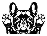 French Bulldog Vinyl Car sticker by StickersOnlineStore on Etsy