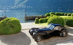 Bugatti 57SC Atlantic at Lake Como
