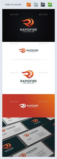 Rapid Fire R Letter Logo Design Template - Letters Logo Design Template Vector EPS, AI Illustrator. Download here: https://graphicriver.net/item/rapid-fire-r-letter-logo-template/19341836?ref=yinkira