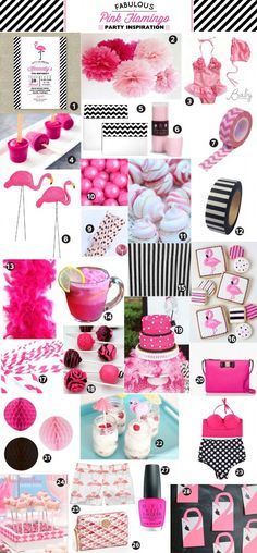 Pink Flamingo Birthday Party Inspiration and Craft Ideas