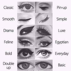 Estilos de delineado de ojo Haz tu cita para asesoría de maquillaje  www.marykay.com.mx/glomarole #marykaytepic