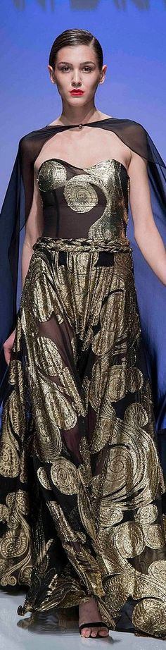 Fashion Face, Love Fashion, Black Tie Affair, Black Luxury, Catwalk Fashion, Spring Summer 2016, Beautiful Gowns, Black And Brown, Evening Gowns