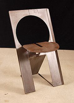 Pair of French Modern Design Metal Chairs after Roger Tallon  $1500.00