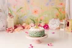 Spring floral girly cake smash first birthday photography First Birthday Photography, Girly Cakes, Cake Smash, First Birthdays, Spring, Floral, Desserts, Food, Tailgate Desserts