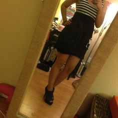Dresses & Skirts - Black/white stripes dress