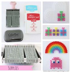 Quick Cards Using Hama Beads - A Spoonful of Sugar