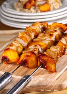 Gooseberry Patch Recipes: Pork & Peach Kabobs from Cook It Quick Cookbook