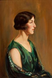 Portrait of a lady by David P. Ramsay