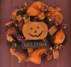 Halloween DecoMesh Wreath