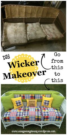 DIY Wicker Makeover