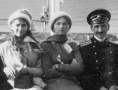 Grand Duchesses Maria and Olga Nikolaevna Romanov with Pavel Voronov aboard the Standart. Olga Romanov, Familia Romanov, Romanov Sisters, Grand Duchess Olga, House Of Romanov, Alexandra Feodorovna, Russian Literature, Tsar Nicholas Ii, Imperial Russia