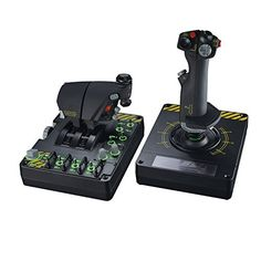 Saitek Pro Flight X-55 Rhino H.O.T.A.S. (Hands on Throttle and Stick) System for PC provides utmost control over simulated aircraft. Rating 3.9 out of 5 stars, 456 customer reviews