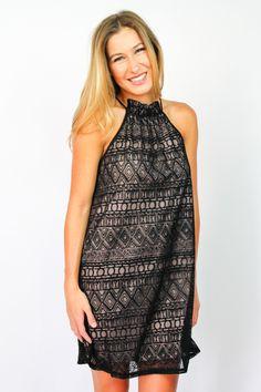 Sweet Nothing Black & Taupe Dress $48