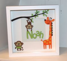 Personalised 3d box frame wall art