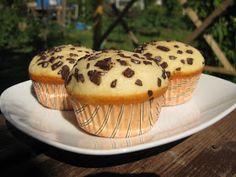 Bucataria casei noastre: Briose cu iaurt, vanilie si fulgi de ciocolata Healthy Desserts, Delicious Desserts, Yummy Food, Cookie Recipes, Dessert Recipes, Romanian Desserts, No Cook Desserts, Sweet Treats, Deserts