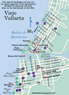 map of old town puerto vallarta | Puerta Vallarta Map