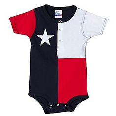 @Lauren Light...one day, when you have kids, I'll get this for you.    Texas Flag Baby Onesie RPTXONSIE
