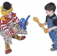 Although the clown in this pic really disturbs me, I have always wanted to learn how to make balloon animals.