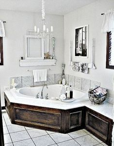 If you are looking for Garden Tub Decor Ideas, You come to the right place. Below are the Garden Tub Decor Ideas. This post about Garden Tub Decor Ideas was posted . Dream Bathrooms, Beautiful Bathrooms, Luxury Bathrooms, White Bathrooms, Master Bathrooms, Bathroom Renos, Small Bathroom, Bathroom Tubs, Bathroom Ideas