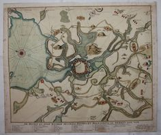 18th Century Scarce Map / Sea Chart of Wismar during the Siege of from vianova on Ruby Lane