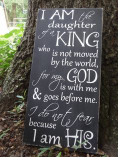 I Am the Daughter of a King Hand Painted Sign by PurePaintedSigns, $65.00