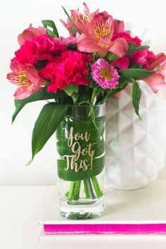 The flowers may be short-lived, but this motivational vase will serve you well year-round. You Got This Acrylic Flower Vase, $26; swellcaroline.com.