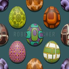 RETRO EGGS – Layed in the 70s, stored in the cooling shelf at patterndesign.com, they are still fresh.  https://www.patterndesigns.com/en/design/19749/Retro-Egg