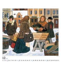 Naive, Czech Republic, The Past, Retro, Painters, Illustrators, Poster, Pictures, House