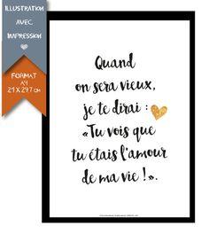 #affiche Collection St Valentin - format A4 par RGB4YOU sur Etsy #citation #amour #declaration
