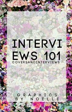 #wattpad #random Hey! Do want an interviewer to interview the amazing you? Then all you got to do is check this book out ^_^