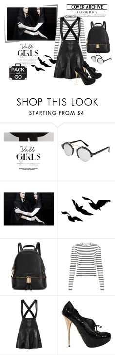 """""""black and fab"""" by constellationz ❤ liked on Polyvore featuring Post-It, COII, Illesteva, Michael Kors, New Look, Sandro and Christian Dior"""