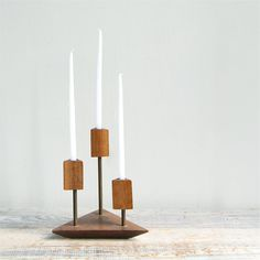 Danish Modern Iron Candle Holder,via Etsy.