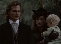 Orry, Madeleine and baby Orry at Clarissa's funeral.