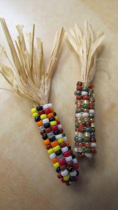 Beaded Indian Corn set of 11 by beadsboxesandbeyond on Etsy, via Etsy.