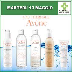 Martedì 13 maggio: GIORNATA AVENE. Potrai effettuare 40 minuti di trattamento viso personalizzato con la consulente Avene. Inoltre ci sarà uno sconto del 10% all'acquisto. #farmaciaallamadonna #farmacia #mestre #eventi #maggio