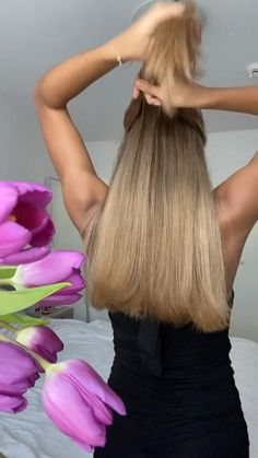 Messy Ponytail, Ponytail Hairstyles, Summer Hairstyles, Cute Simple Hairstyles, Pretty Hairstyles, Hair Up Styles, Glow Up Tips, Beauty Routines, Cut And Color