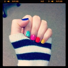 My colorful nails