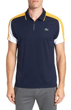 116984d397064 Free shipping and returns on Lacoste Ultra Dry Colorblock Piqué Polo at  Nordstrom.com.  p This technical piqué-knit color-block polo is designed to  wick ...