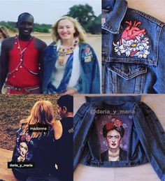 """American pop-singer Madonna wears the jacket by DARIA Y MARIA!  She posted photos of our jacket """"Frida"""" in her social networks! it's the SUCCESS for us!!!POP-Королева Мадонна в июле была замечена в джинсовом жакете """"Фрида"""" от бренда DARIA Y MARIA во время своего благотворительного визита в Кению. В своих соцсетях и на официальном сайте Мадонна выложила видео в нашей джинсовой куртке#мадонна #madonna #frida #madonnaafrica #fridajacket #курткапопарт #курткафрида #фриданакуртке #курткас"""