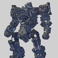 Soldier Type Mech.three colors.