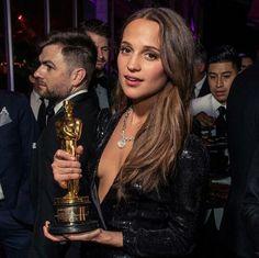 Alicia Vikander at the Vanity Fair's Oscars After Party 2016
