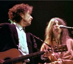Bob Dylan and Patti Smith, uncredited photo