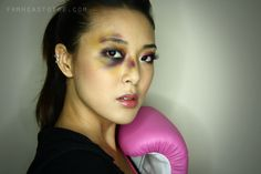 From Head To Toe: Boxer Girl Bruised Eye Halloween Tutorial